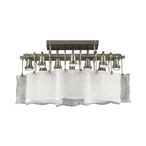 PLC Lighting Modern Flushmount Light in Satin Nickel Finish 23030 SN