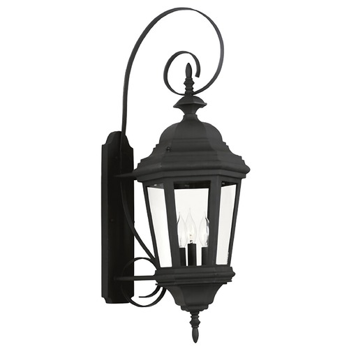 Kenroy Home Lighting Outdoor Wall Light with Clear Glass in Black Finish 16314BL
