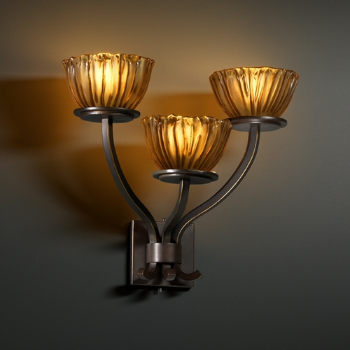 Justice Design Group Justice Design Group Veneto Luce Collection Sconce GLA-8783-36-AMBR-DBRZ