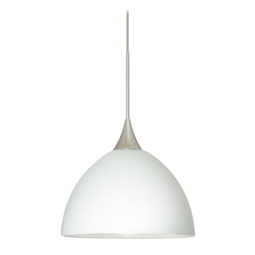 Besa Lighting Besa Lighting Brella Satin Nickel Mini-Pendant Light with Bowl / Dome Shade 1XT-467907-SN