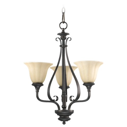 Quorum Lighting Quorum Lighting Randolph Oiled Bronze Mini-Chandelier 6194-3-86