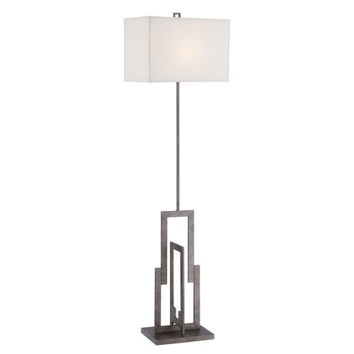 Lite Source Lighting Lite Source Lighting Mireya Antique Silver Floor Lamp with Rectangle Shade LS-82555
