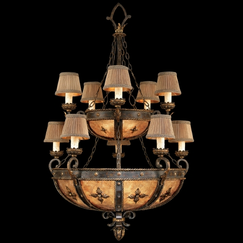 Fine Art Lamps Fine Art Lamps Castile Antiqued Iron with Gold Leaf Chandelier 428140ST
