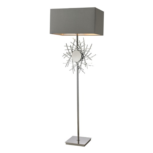 Dimond Lighting Dimond Lighting Polished Nickel Table Lamp with Rectangle Shade D2680