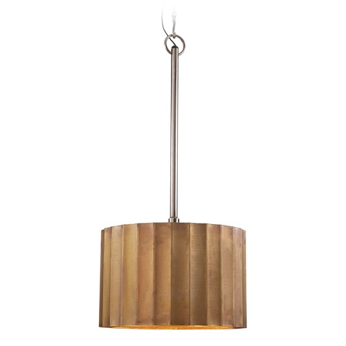Dimond Lighting Medium Brass Clad Ribbed Pendant 985-026