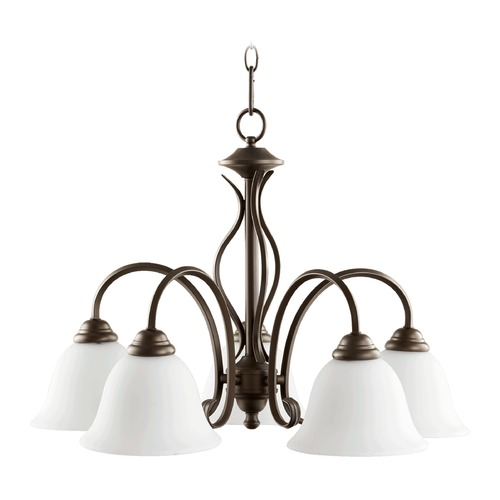 Quorum Lighting Quorum Lighting Spencer Oiled Bronze Chandelier 6410-5-186