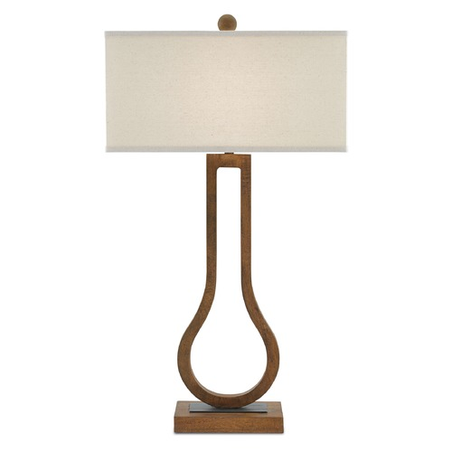 Currey and Company Lighting Currey and Company Faraday Chestnut/black Bronze Table Lamp with Rectangle Shade 6000-0069