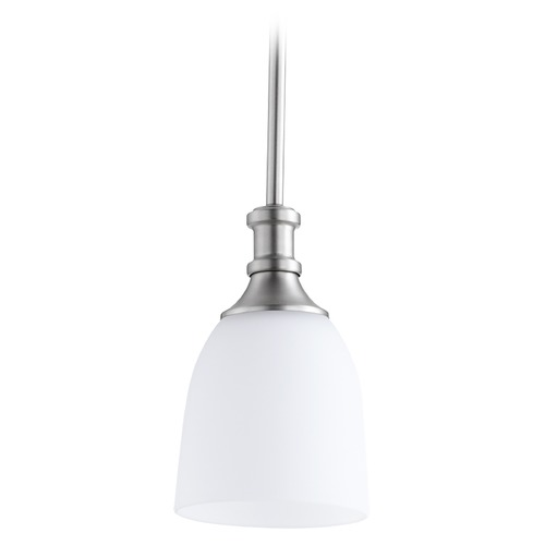 Quorum Lighting Quorum Lighting Richmond Satin Nickel Mini-Pendant Light with Bowl / Dome Shade 3811-65