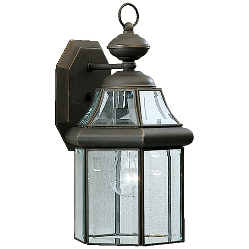 Kichler Lighting Kichler Outdoor Wall Light with Clear Glass in Olde Bronze Finish 9784OZ