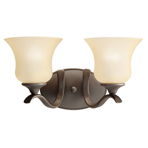 Kichler Lighting Kichler Bathroom Light with Beige / Cream Glass in Olde Bronze Finish 5285OZ