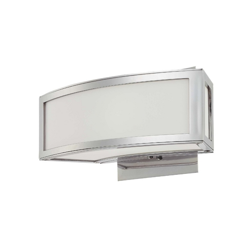 George Kovacs Lighting Modern Sconce Wall Light with White Glass in Chrome Finish P5891-077