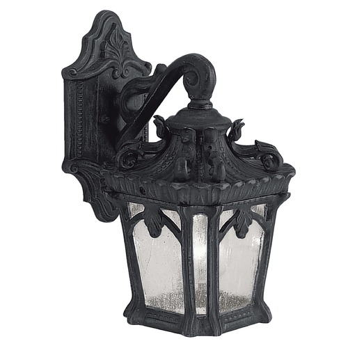 Kichler Lighting Kichler Outdoor Wall Light with Clear Glass in Textured Black Finish 9355BKT