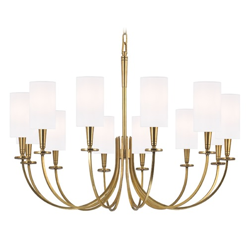 Hudson Valley Lighting Mason 12 Light Chandelier - Aged Brass 8032-AGB