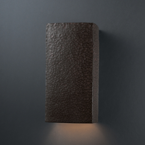 Justice Design Group Sconce Wall Light in Hammered Iron Finish CER-5950-HMIR