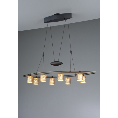 Holtkoetter Lighting Holtkoetter Modern Low Voltage Pendant Light with Orange Glass in Hand-Brushed Old Bronze Finish 5508 HBOB G5030