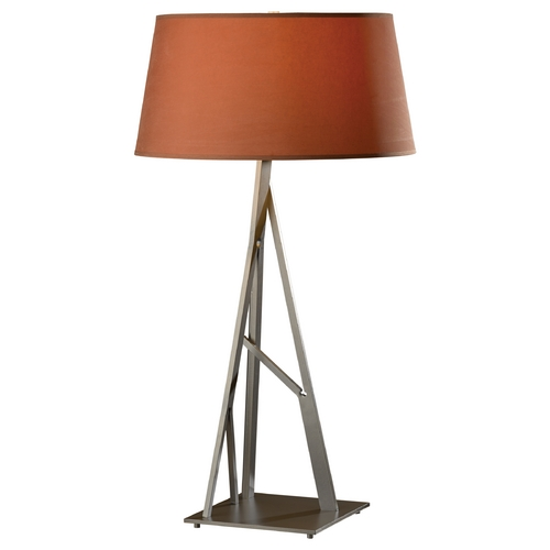 Hubbardton Forge Lighting Hubbardton Forge Lighting Arbo Burnished Steel Table Lamp with Empire Shade 277690-08-713
