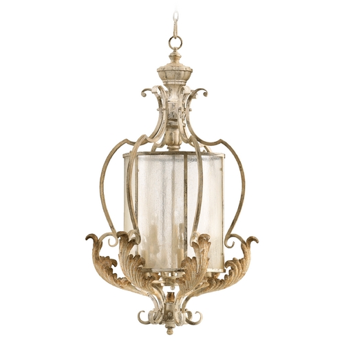 Quorum Lighting Quorum Lighting Florence Persian White Pendant Light with Cylindrical Shade 6837-9-70