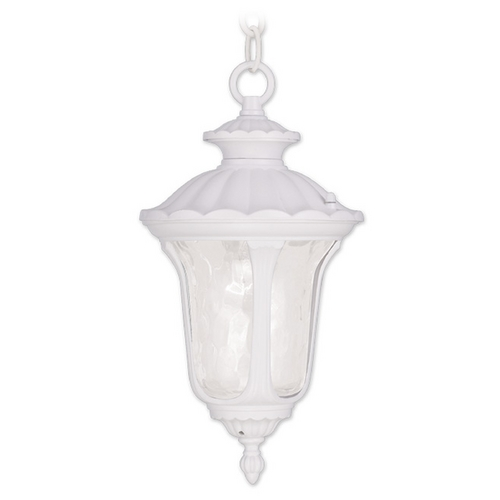 Livex Lighting Livex Lighting Oxford White Outdoor Hanging Light 7849-03