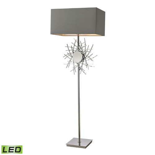 Dimond Lighting Dimond Lighting Polished Nickel LED Table Lamp with Rectangle Shade D2680-LED