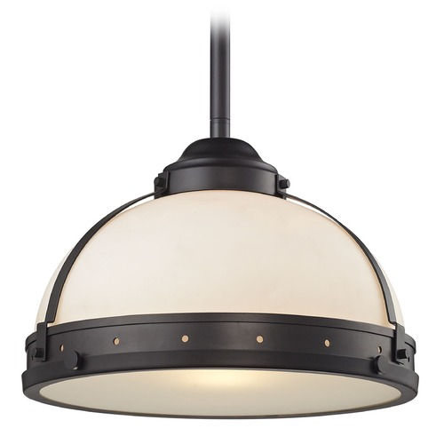 Elk Lighting Elk Lighting Braiden Oil Rubbed Bronze Pendant Light with Bowl / Dome Shade 66361/1