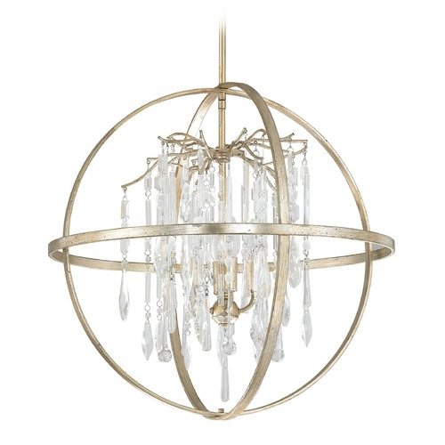 Capital Lighting Capital Lighting Carrington Winter Gold Pendant Light 3184WG-CR