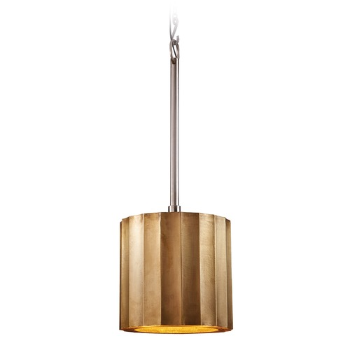 Dimond Lighting Small Brass Clad Ribbed Pendant 985-027