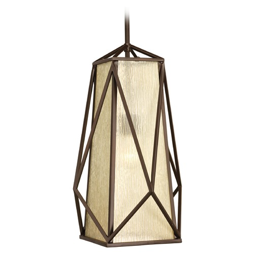 Progress Lighting Progress Lighting Marque Antique Bronze Pendant Light with Square Shade P3598-20