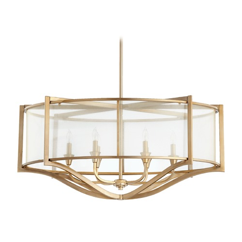 Quorum Lighting Quorum Lighting Highline Aged Brass Pendant Light 642-6-80