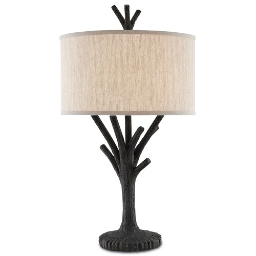 Currey and Company Lighting Currey and Company Arboria Black Accent Table 6000-0070