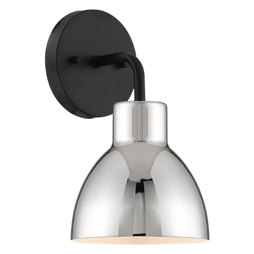 Nuvo Lighting Satco Lighting Sloan Matte Black / Polished Nickel Sconce 60/6771
