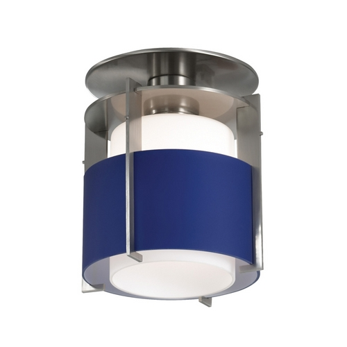 Sonneman Lighting Modern Mini-Pendant Light with Blue Glass 3432.13B