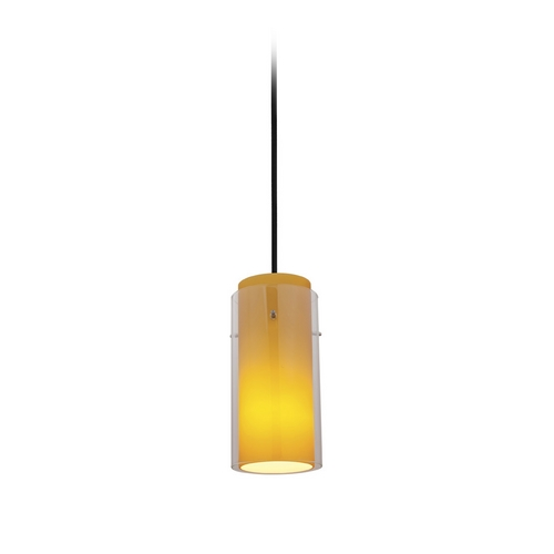 Access Lighting Modern Mini-Pendant Light 28033-2C-ORB/CLAM