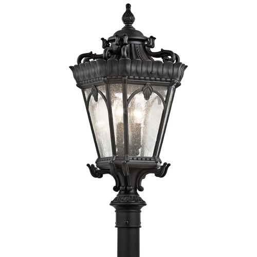 Kichler Lighting Kichler Post Light with Clear Glass in Textured Black Finish 9559BKT