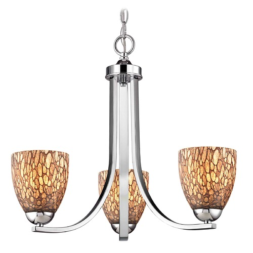 Design Classics Lighting Design Classics Dalton Fuse Chrome Mini-Chandelier 5843-26 GL1016MB