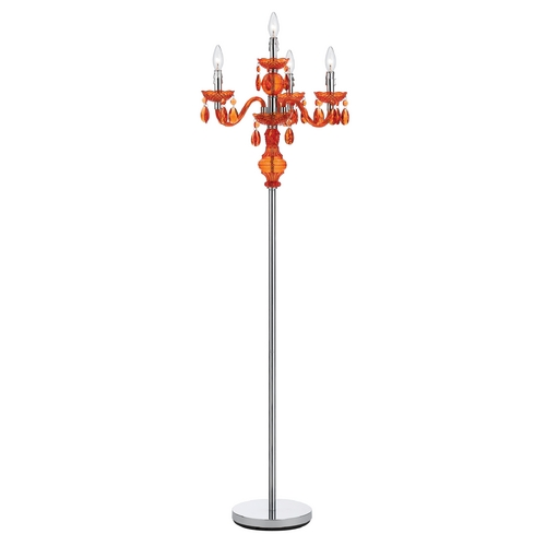 AF Lighting Floor Lamp in Orange Finish 8510-FL