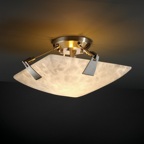 Justice Design Group Justice Design Group Clouds Collection Semi-Flushmount Light CLD-9630-25-NCKL