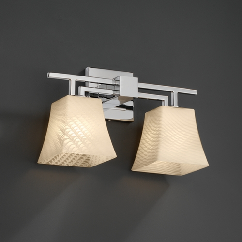 Justice Design Group Justice Design Group Fusion Collection Bathroom Light FSN-8702-40-WEVE-CROM