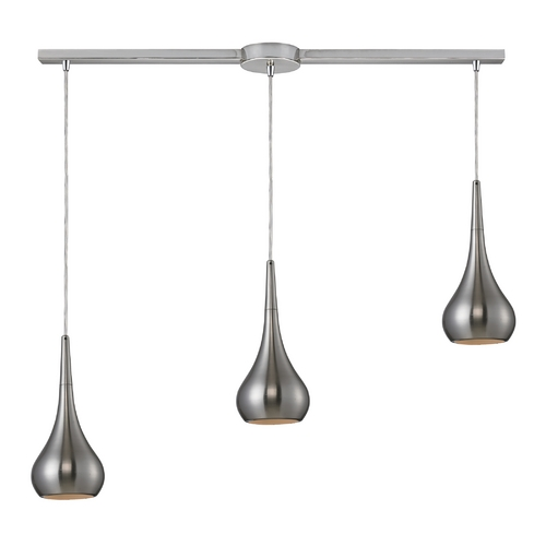 Elk Lighting Modern Multi-Light Pendant Light 3-Lights 31340/3L-SN