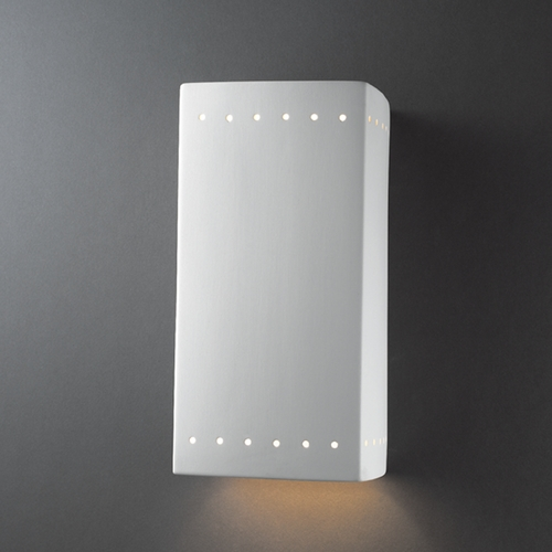 Justice Design Group Sconce Wall Light in Bisque Finish CER-5960-BIS