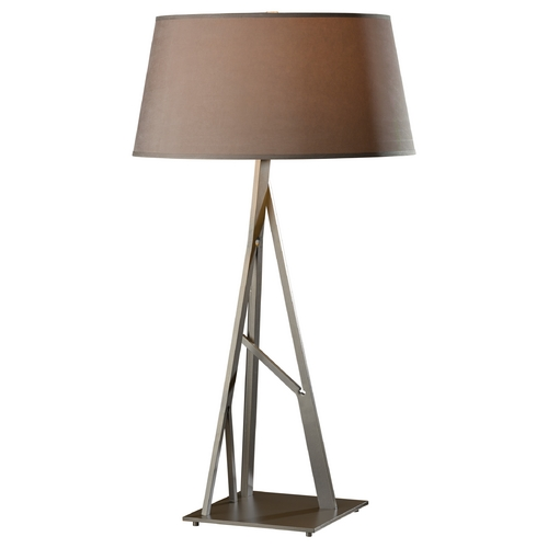 Hubbardton Forge Lighting Hubbardton Forge Lighting Arbo Burnished Steel Table Lamp with Empire Shade 277690-08-714