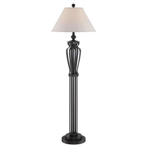 Lite Source Lighting Lite Source Lighting Rigoberto Dark Bronze Floor Lamp with Empire Shade LS-82557