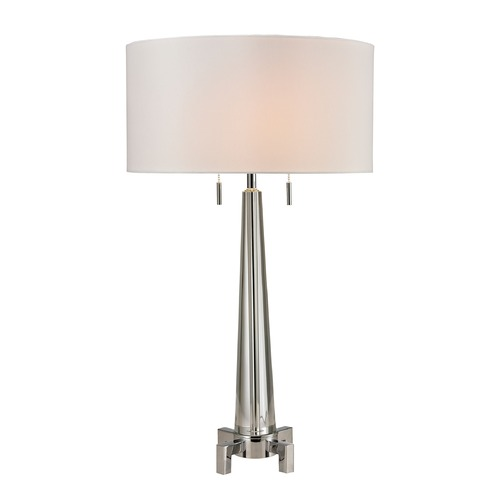Dimond Lighting Dimond Lighting Clear, Chrome Table Lamp with Drum Shade D2681