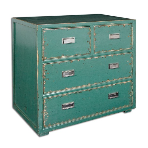 Uttermost Lighting Uttermost Aquias Hand-Painted Accent Chest 24369