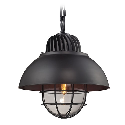Elk Lighting Elk Lighting Darby Oil Rubbed Bronze Pendant Light with Bowl / Dome Shade 66370/1
