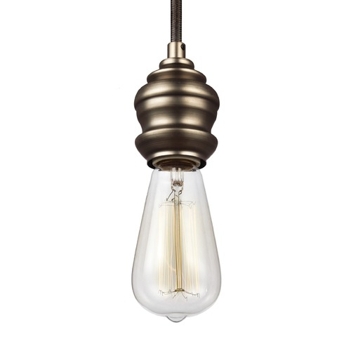 Feiss Lighting Feiss Corddello Dark Aged Brass Mini-Pendant Light P1368DAGB