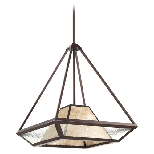 Progress Lighting Progress Lighting Collins Antique Bronze Pendant Light with Square Shade P5115-20