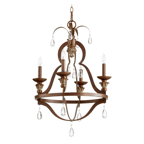Quorum Lighting Quorum Lighting Venice Vintage Copper Mini-Chandelier 644-4-39