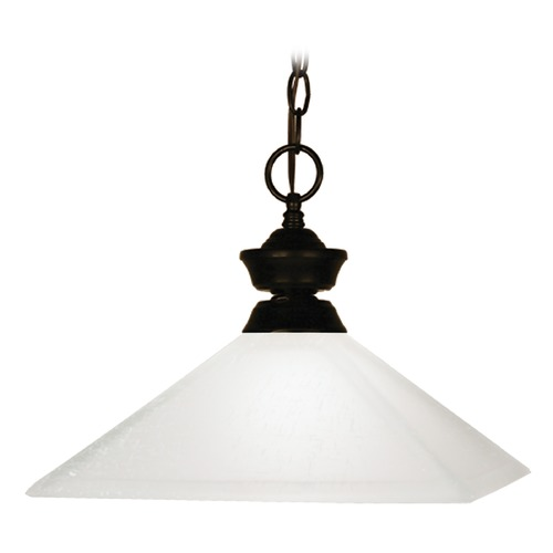 Z-Lite Z-Lite Flatwater Bronze Pendant Light with Square Shade 100701BRZ-MMO13