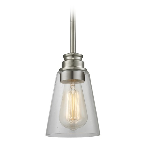 Z-Lite Z-Lite Annora Brushed Nickel Mini-Pendant Light with Conical Shade 428MP-BN