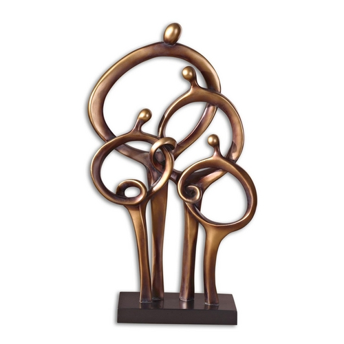Uttermost Lighting Modern Sculpture in Dark Bronze Finish 19340